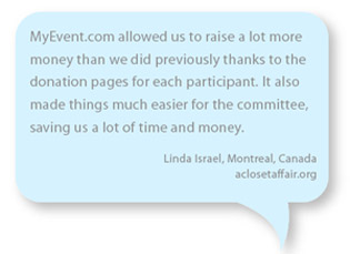 Why a fundraising event website